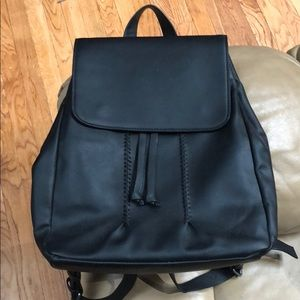 American Eagle backpack faux leather black